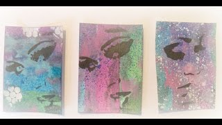 How to make easy Artist trading cards/Easy DIY ATC