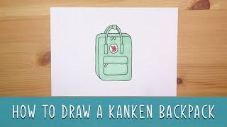 how to draw a Kanken Backpack - Easy things to draw!
