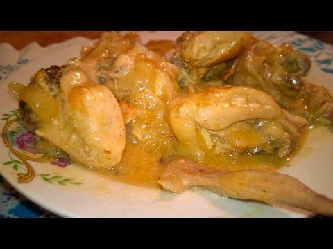 Chicken Stew Recipe with Sour Cream – Russian Recipes