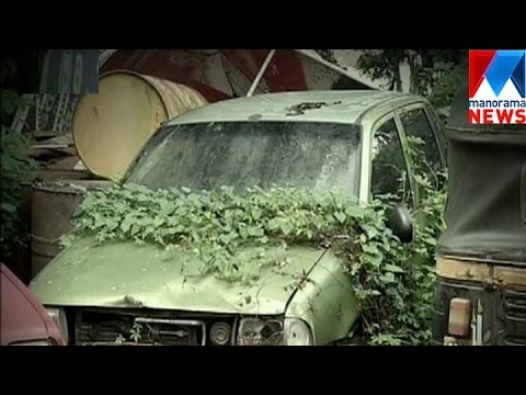 Police-station turned as dumping yard of abandoned vehicle | Manorama News
