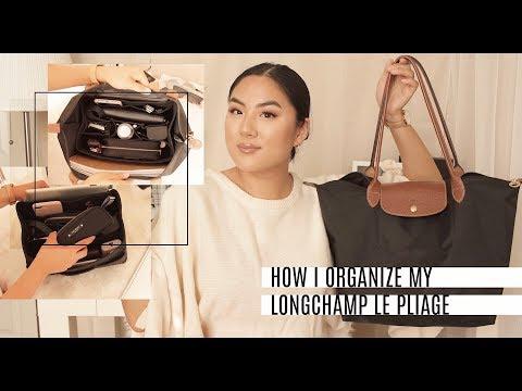 HOW I ORGANIZE MY LONGCHAMP LARGE LE PLIAGE *hack* | INMYSEAMS