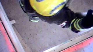 Through-the-floor charged hose line raise