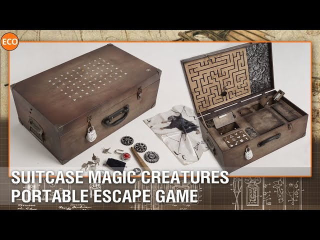 Suitcase Magic creatures - Portable escape game.