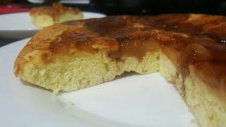 Tarta de manzana en sarten,sin horno, muy fácil!!