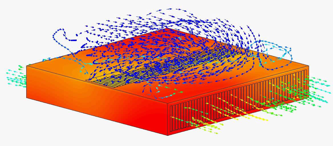 Cfd Forced Convection Copper Heat Sink V4