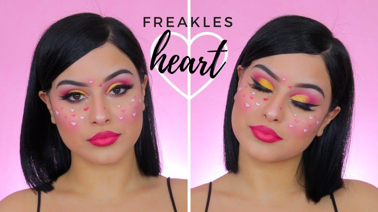 Freckles Heart Look Inspired By Nikita Dragun Youtube
