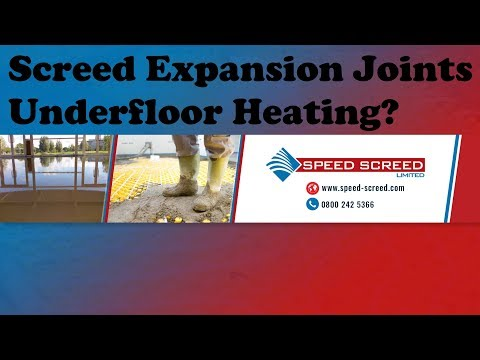 Screed Expansion Joints Underfloor Heating?