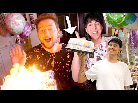 HIS FIRST SURPRISE BIRTHDAY PARTY!! (EMOTIONAL)
