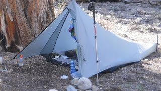 Tarptent Contrail Bushcraft Rock Chair Overnight. Coffee tips. Flint and steel fire