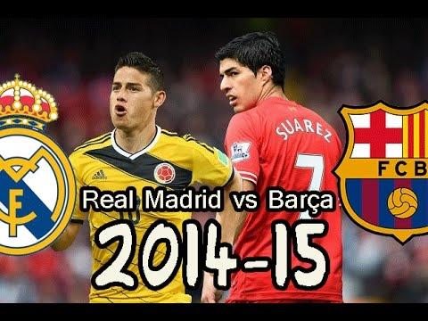 Real Madrid 2015 vs Barça 2015   Debut James - Kroos - Rakitic - Luis Suarez   Fifa 14