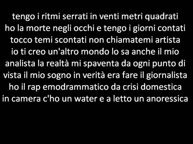Fabri Fibra Bugiardo Lyrics Youtube