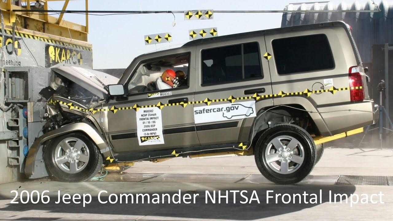 2006 2010 Jeep Commander Nhtsa Frontal Impact Youtube