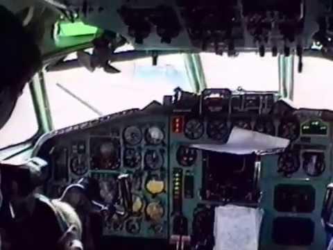 Tupolev TU-154 MALEV In the cockpit for takeoff