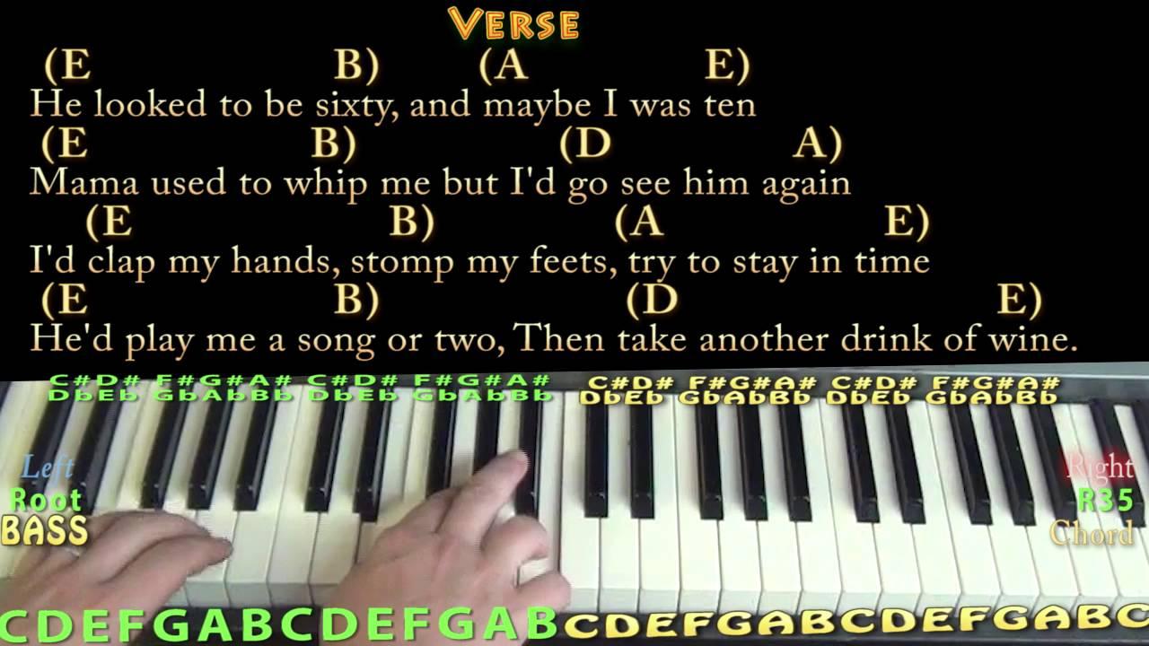 The Ballad of Curtis Loew Lynyrd Skynyrd Piano Lesson Chord Chart with  Lyrics