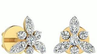 Very beautiful and stylish gold diamond earrings design for women..👂👂