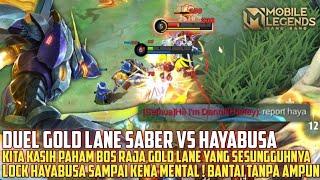 Saber Gua Bikin Musuh Lane Kena Mental Boss  Gara Gara Gua Lock Terus -  Mobile Legends