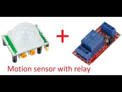 PIR Motion sensor /detector module HC-SR501 with relay circuit schematic Room automatic light