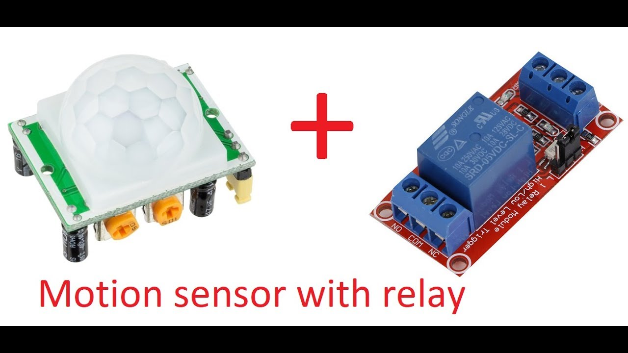 pir motion sensor detector module hc sr501 with relay circuit schematic room automatic light [ 1280 x 720 Pixel ]