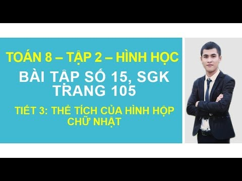 Bài tập 15 Trang 105 – Tiết   Bài 3 Chương 4   Toán 8   Tập 2 – Hình học – GGT