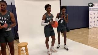 LeBron and DWade Son's (Bronny James and Zaire Wade) Photo Shoot and Dunking Contest