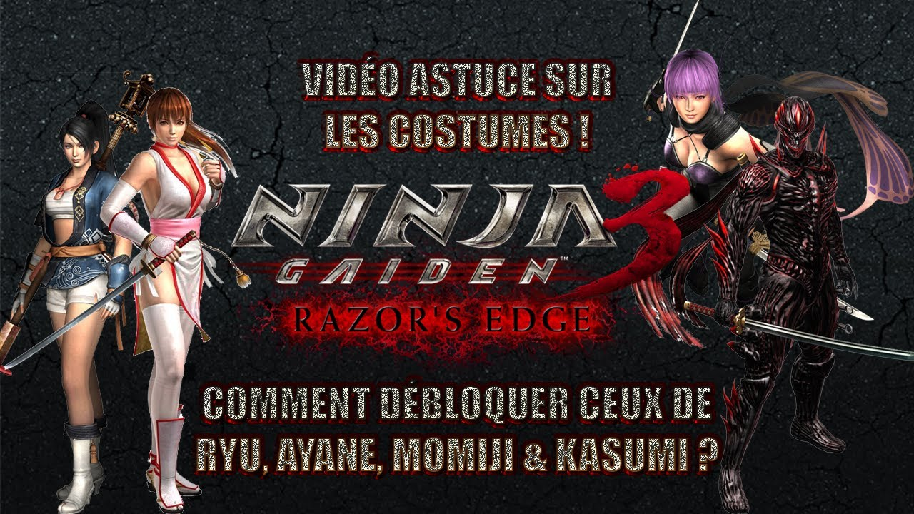 Ps3 Ninja Gaiden 3 Razor S Edge Les Costumes Des Personnages