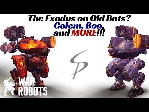 War Robots - The Exodus / Heavy Orkan on OLD Bots!!!  Golem, Boa, Raijin, and MORE!