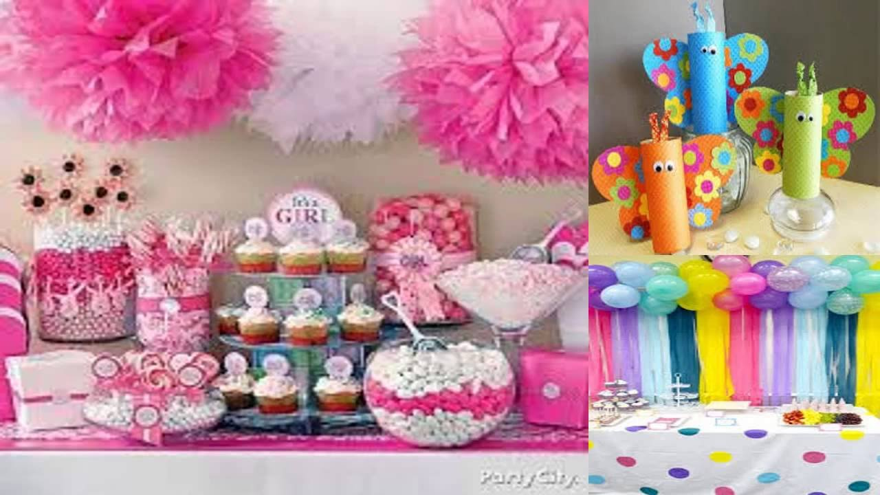 Ordinary Ideas Para Baby Shower Part - 13: IDEAS PARA BABY SHOWER DE NIÑA - YouTube