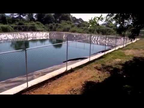 Olla de almacenamiento de agua para riego youtube for Geomembrana para estanques de agua