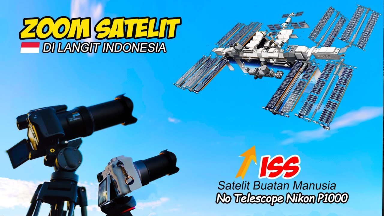 ZOOM ISS (International Space Station) SATELIT DI LANGIT INDONESIA