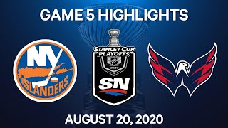 NHL Highlights | 1st Round, Game 5: Islanders vs. Capitals - Aug. 20, 2020