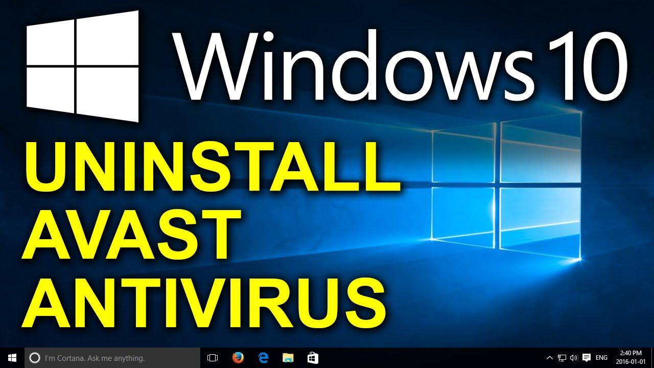 como desinstalar avast free antivirus en windows 10