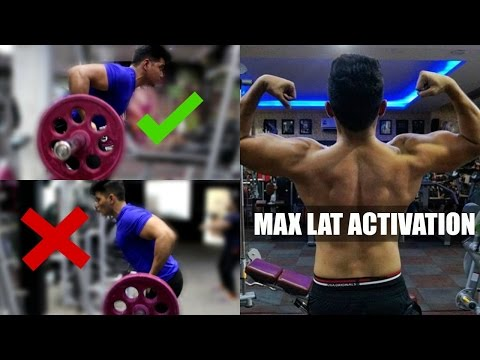 Exercise for wider Lat Muscles | Reverse Grip Barbell Rows | Yates Rows