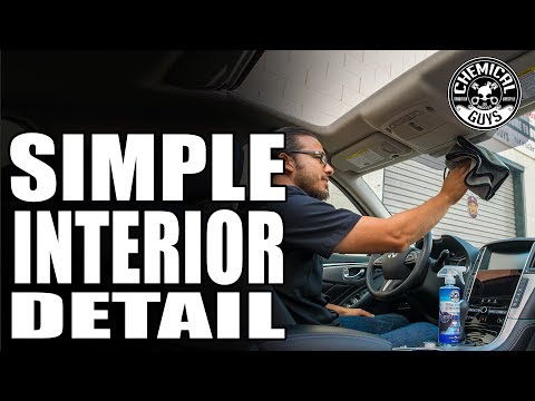How To Quickly Clean Car Interior - Infiniti Q50 - Chemical Guys Car Care