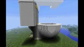 Minecraft Toilet - It Flushes!