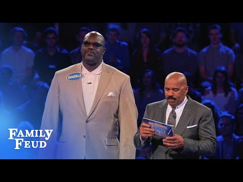 Shaq and Charles Barkleys EPIC Fast Money!  Celebrity Family Feud