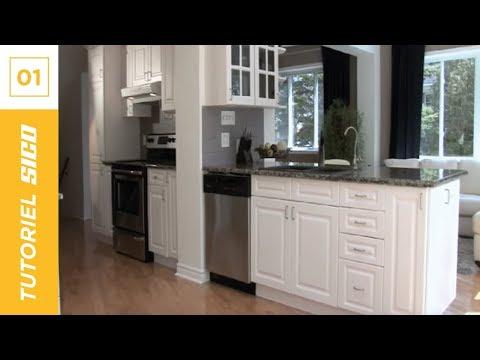 Peinture sico tutoriel maison comment peindre les - Renover cuisine rustique en moderne ...