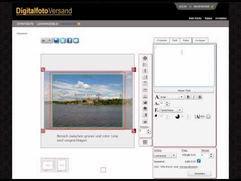 Video-Anleitung: Leinwand-Designer Von Digitalfotoversand.de