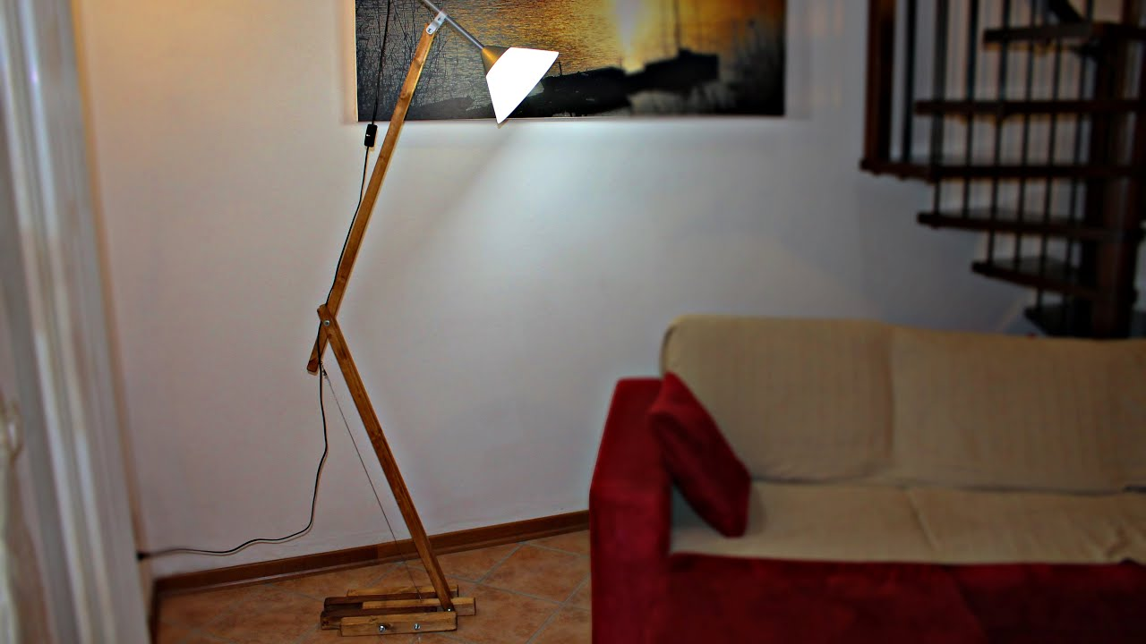 Design lamp diy lampada fai da te youtube for Fioriere fai da te in legno