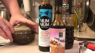 Салат и гавайская смесь с соусом