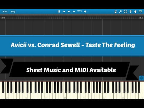 Taste The Feeling - Avicii vs. Conrad Sewell [Sheet & Midi Download]