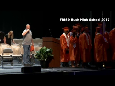 Fort Bend ISD Bush High School Graduation 2017