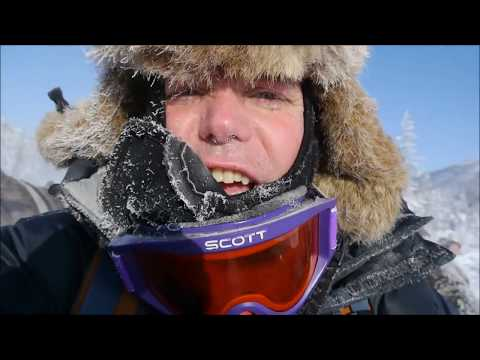 Extreme cold; Explorer Mikael Strandberg traveling with reindeer testing Termo Original