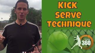 Tennis kick serve | Step by Step Instruction