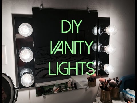 DIY HOLLYWOOD VANITY LIGHTS SETUP UNDER $100