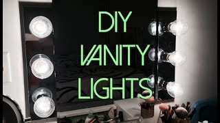 Diy Hollywood Vanity Lights Setup