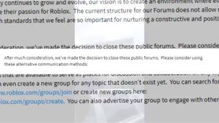 My Reaction to ROBLOX closing Public Forums.