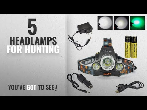 Top 5 Headlamps For Hunting [2018]: Boruit® Headlamp With Green Light –Green Coyote Hog Hunting