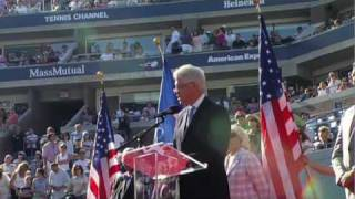 President Clinton Helps Induct Arthur Ashe to U.S. Open Court of Champions