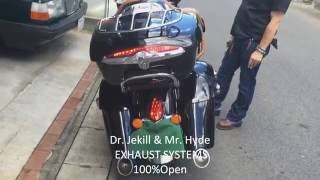 INDIAN CHIEF Dr. Jekill & Mr. Hyde  EXHAUST SYSTEMS SOUND