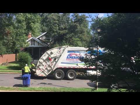 American Disposal Collecting Garbage In Arlington, VA